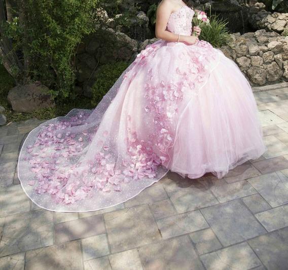 Hermoso Vestido Xv Años Marca Ragazza Color Rosa Baby Ta 7/9