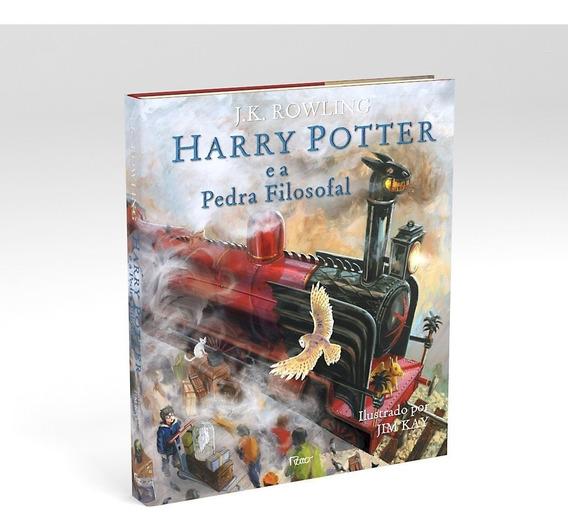 Kit Com 2 Livros Harry Potter Ediçao Ilustrada