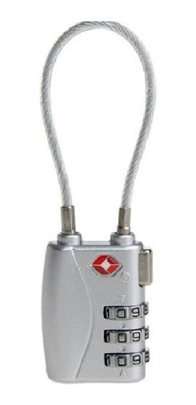 Cadeado Tsa Ajustável De Metal Corda Aço Mala Mochila Viagem