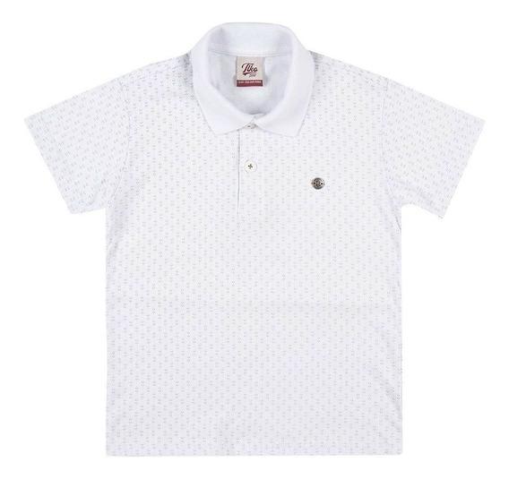 Camisa Polo Masculina Tholloko I51836 Branco Tamanho 4