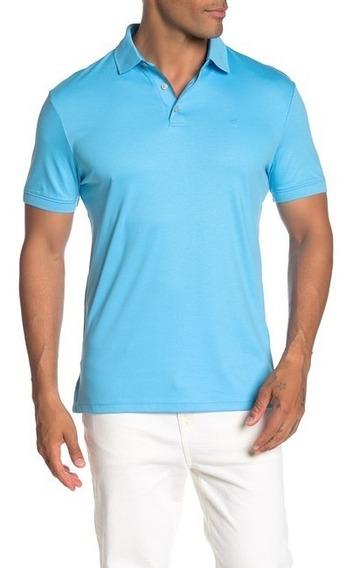 Playera Polo Calvin Klein Hombre Original Azul Casual