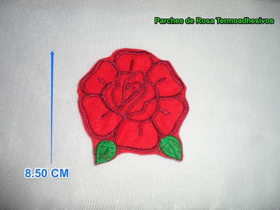 Parches De Rosas Bordadas Grandes (paquete De 100 Pza.)