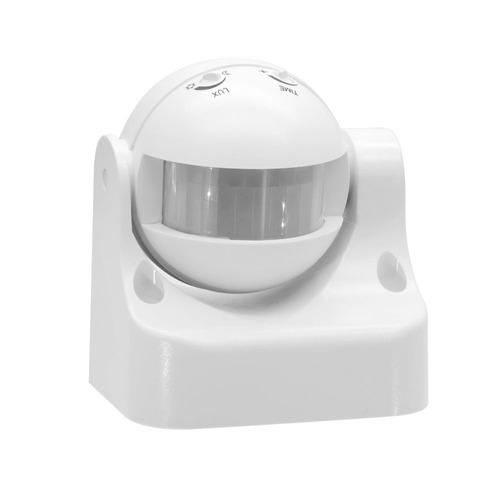 pared LED Seguridad Exterior 110-220V l/ámpara Interruptor para Corridor Garaje Infrarrojo 180/° PIR Sensor de movimiento Detector Interruptor negro
