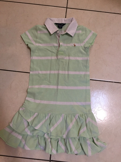 Vestido Polo Original Para Niña Talla 6 Años
