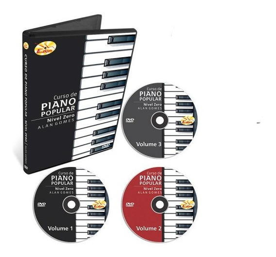 Curso Teclado Para Iniciantes Nível Zero 3 Dvds - Original