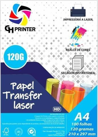Papel Rigido Transfer Laser 120 Gramas, 100 Folhas Promoção