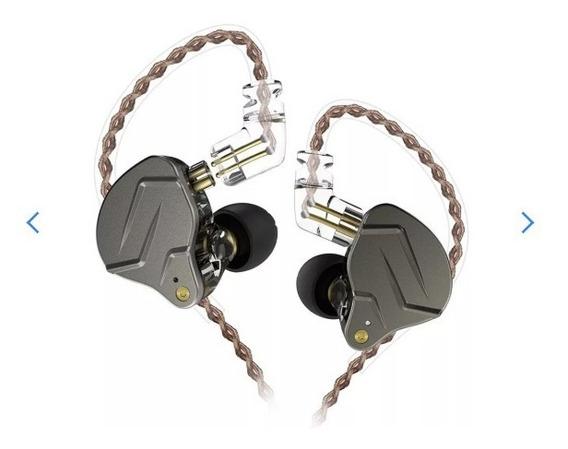 Fone In Ear Kz Zsn Pro Retorno Monitor Palco + Case + Brinde