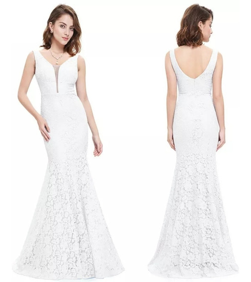 Hermoso Vestido De Boda Civil Blanco Tallas Grande Epep08838