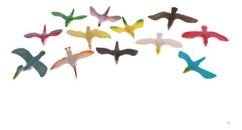 Imagen 1 de 6 de 12 Unids Juguetes De Estatua De Pájaros De Vuelo De