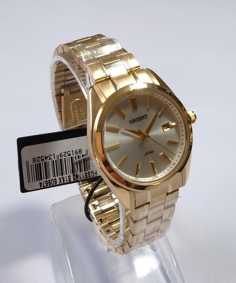 Relógio Dourado Feminino Orient Original Fgss1142s1kx.