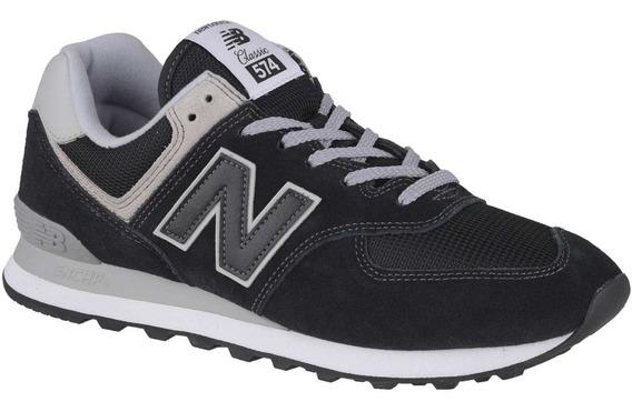 Zapatilla New Balance 574 Negro, Gris Original