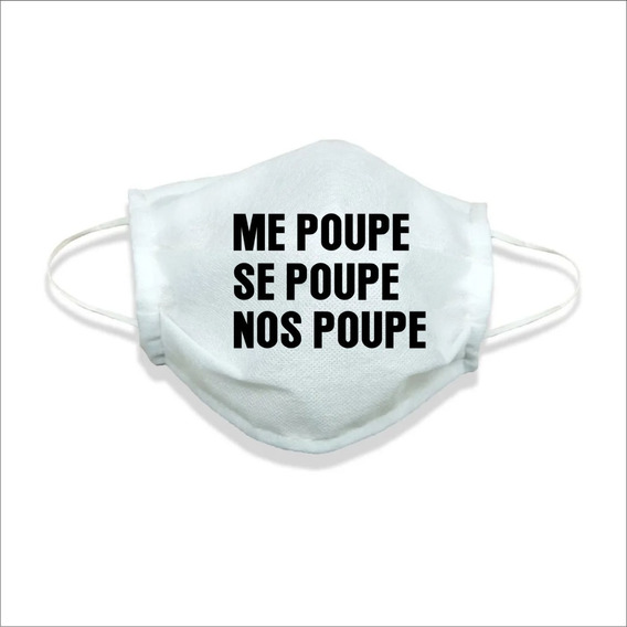 Mascara De Tecido Lavável Não Descartável Me Poupe Se Poupe
