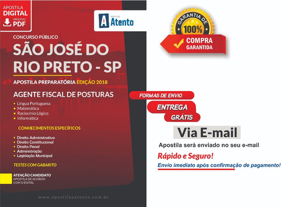 Apostila Rio Preto - Fiscal De Posturas 2019 - Preparatória.