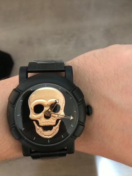 Relógio Skmei Skull - Novo - Frete Grátis - Caveira Dourada
