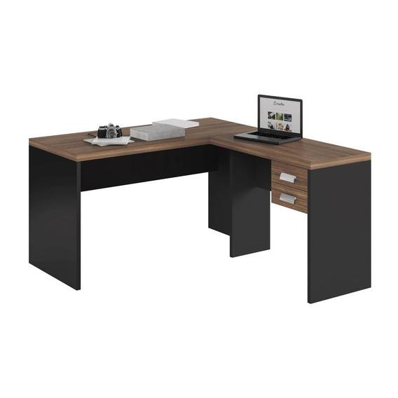 Mesa Para Escritório Studio L 2 Gavetas Caemmun
