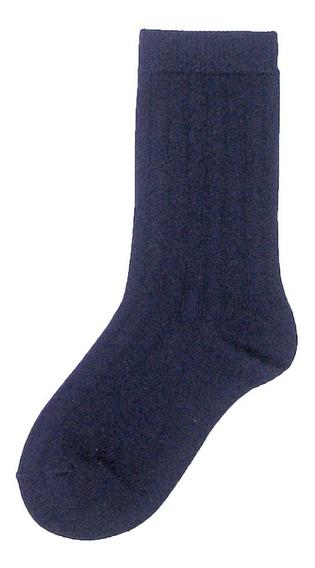 Set De 4 Pares De Calcetines Vestir Gleytor Escolar #1 A #18 Años Negro Blanco Marino Hueso A Escoger