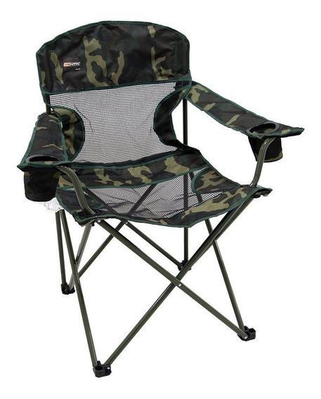 Cadeira Dobrável Fresno Camuflada Camping Pesca Ntk C/ Bolsa
