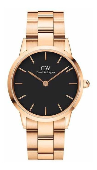Daniel Wellington | Iconic Link 36mm ( R. Gold / Black )
