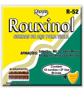 Encordoamento Viola 10 Cordas R52 R-52 Rouxinol + Palheta