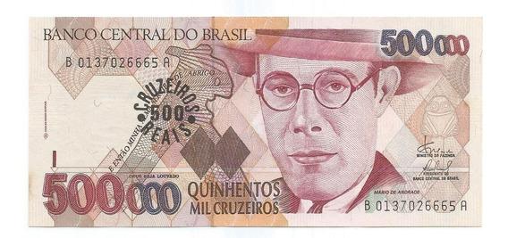 Brasil - C-237, 500 Cruzeiros Reais, 1993, Série 0137ª, Fe
