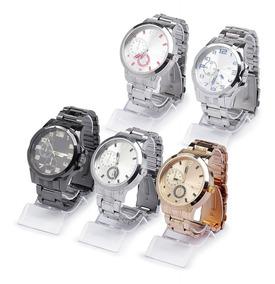 Kit 5 Relógios Luxo Masculino Atacado E Revenda + Caixa Luxo