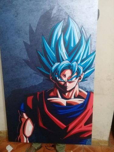 Cuadro - Goku Blue 110x70cm Dracon Ball Super