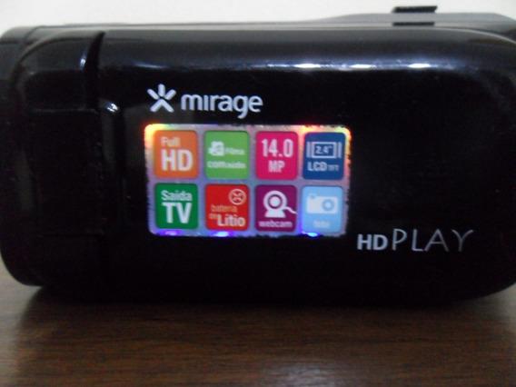 Filmadora Hd Play Mirage14 Megapixel C/ Os Cabos Funcionando