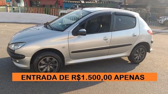 Peugeot 206 Financiamento Com Score Baixo Entrada 1500,00