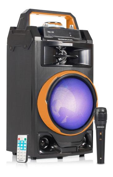 Caixa Som Bluetooth Amplificada Portátil Karaokê Fm 40w Rms