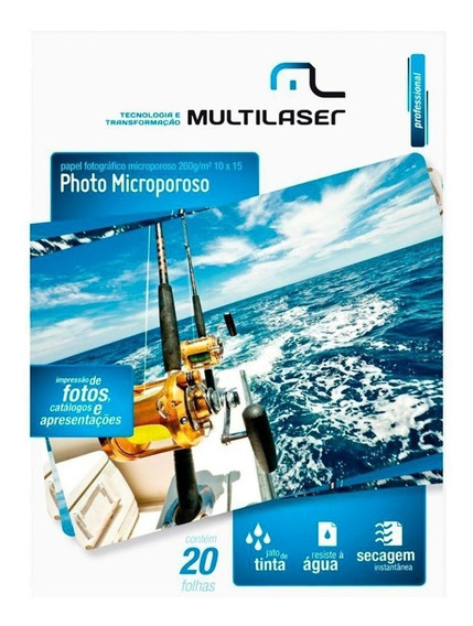 Papel Microporoso 260g Para Imprimi Fotos Real Com Brilho