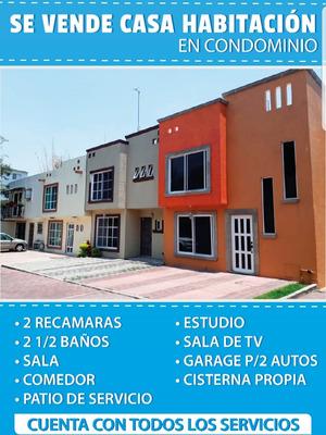 Hermosa Casa En Condominio (7 Casas), Acabadados De Primera