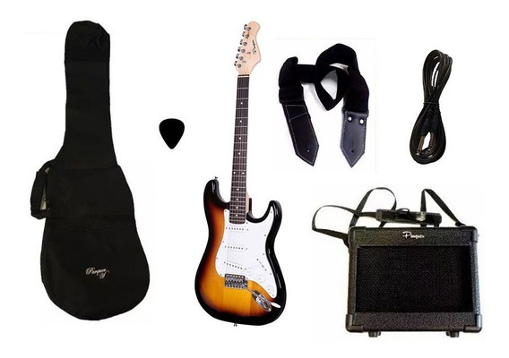 Combo Guitarra Electrica Parquer Sunburst Amplificador 5w
