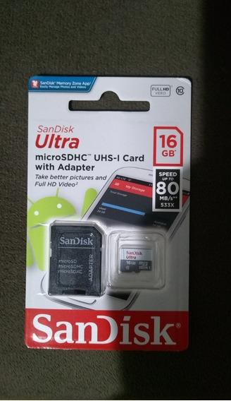 Cartão De Memória Microsd 16gb (classe 10) - Original