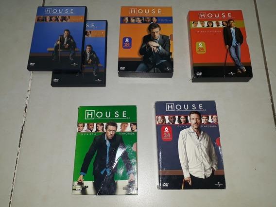 Box Dvd House 1 A 5 Temporada Original Coleção 5 Temporadas