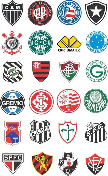 10 Adesivos Tam 8x8 Times Diversos De Futebol