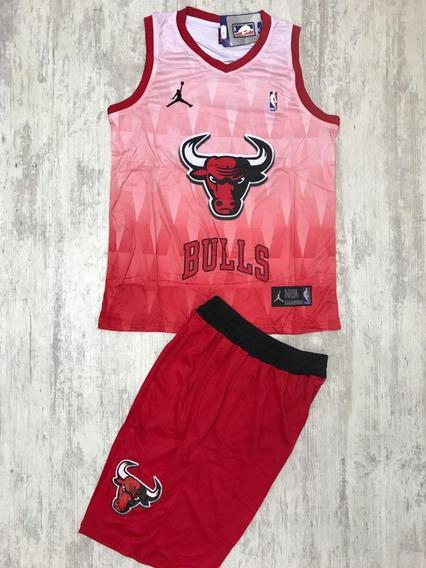 Uniforme Basketball Baloncesto Nba Chicago Bulls Adulto