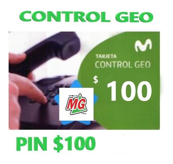 Tarjeta Pin Control Geo 100 Movistar Control Geo $100