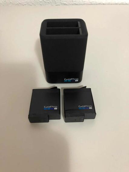 Carregador Dual+2 Baterias P/ Gopro Hero 5/6/7 Black