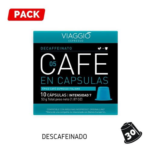 Pack 30 Cápsulas Viaggio Descafeinado Para Nespresso®