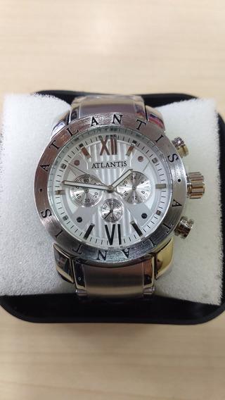 Relógio Original Atlantis Prata Estilo Bv Cx Nota