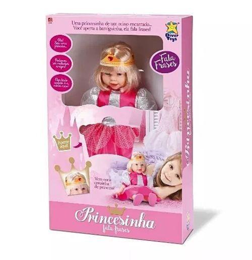 Boneca Princesinha Fala Frases Princesa