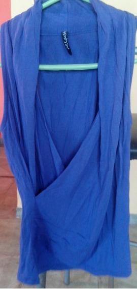 Musculosa Gaia Cruzada Azul