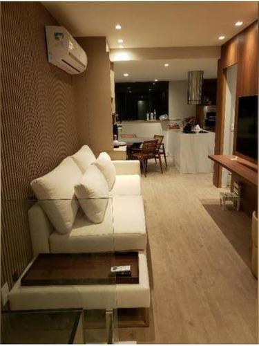 Cobertura Duplex Com Vista Mac E Baia Gb, Finamente Decorada, Mobiliada, Sala, 2 Qtos, 2 Stes, Cozinha Americana, Churrasqueira, Piscina E 2 Vagas. - Co0361