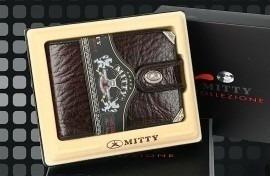 Carteira Mitty Couro Com Cantoneira Café - M0f