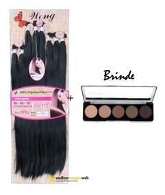 Cabelo Orgânico Liso Weng Mega Hair 70cm + Brinde Sombra Top