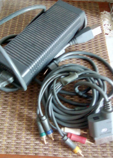 Transformador De Corriente Y Cables Xbox 360 35000
