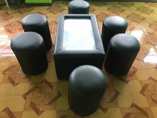 Sala Lounge Bancos Mesa Iluminada