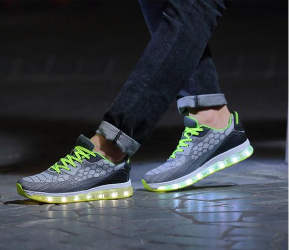 Tenis Luminosos M2 Unisex Con Luz Led Recargable Por Usb