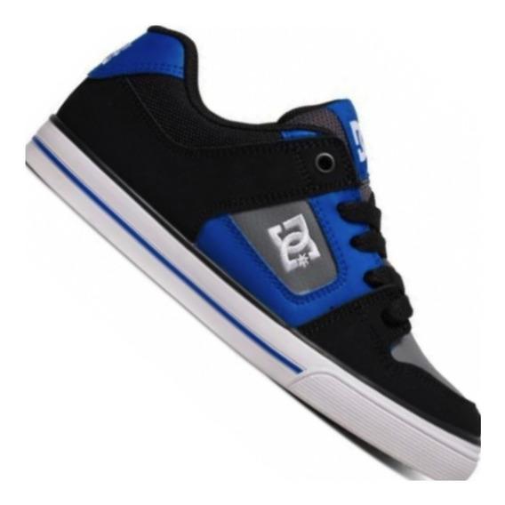 Zapatillas Dc Pure Xkbs Negro Gris Blanco Hombre