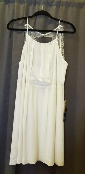 Vestido Blanco Con Espalda Descubierta Importado Usa
